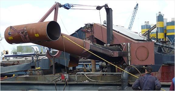 scheepswerf-matena-papendrecht-Bagger-materialen-Complete-Zeefinstallaties