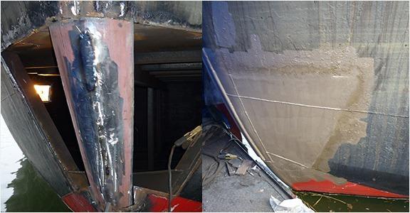 scheepswerf-matena-papendrecht-scheepsreparatie-Vervangen-reparatie-Stevenplaat